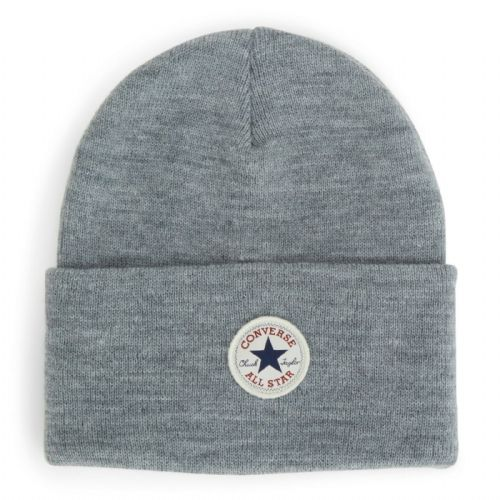 CONVERSE MENS BEANIE HAT.NEW CHUCK TAYLOR GREY WARM WOOLLY KNITTED CAP CON588
